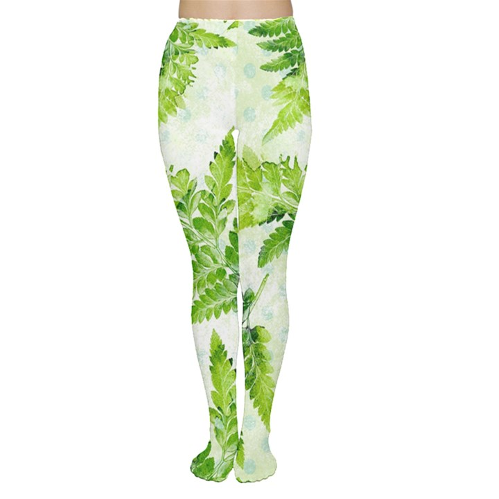 Fern Leaves Tights