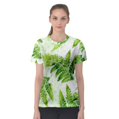 Fern Leaves Women s Sport Mesh Tee