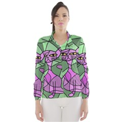 Artistic cat - purple Wind Breaker (Women)