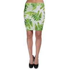 Fern Leaves Bodycon Skirt