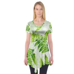 Fern Leaves Short Sleeve Tunic