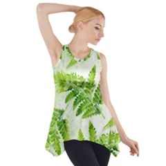 Fern Leaves Side Drop Tank Tunic