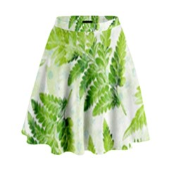 Fern Leaves High Waist Skirt