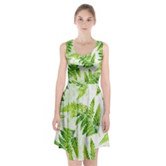 Fern Leaves Racerback Midi Dress