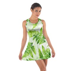 Fern Leaves Cotton Racerback Dress