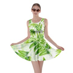Fern Leaves Skater Dress