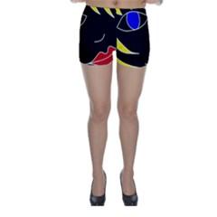 Blond girl Skinny Shorts
