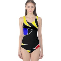 Blond girl One Piece Swimsuit