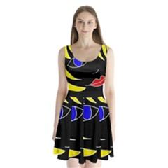 Blond girl Split Back Mini Dress