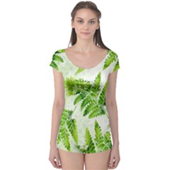 Fern Leaves Boyleg Leotard