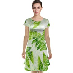 Fern Leaves Cap Sleeve Nightdress