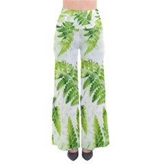 Fern Leaves Women s Chic Palazzo Pants