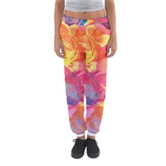 Pop Art Roses Women s Jogger Sweatpants