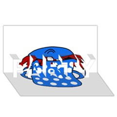 Cooking lobster PARTY 3D Greeting Card (8x4)