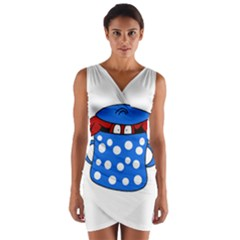 Cooking lobster Wrap Front Bodycon Dress