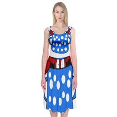 Cooking lobster Midi Sleeveless Dress