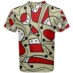 Playful abstraction Men s Cotton Tee