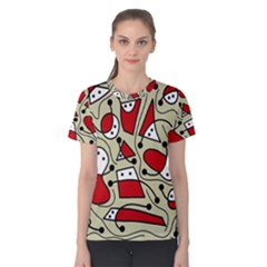 Playful abstraction Women s Cotton Tee