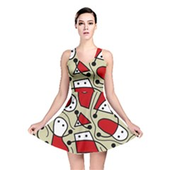 Playful abstraction Reversible Skater Dress