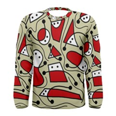 Playful abstraction Men s Long Sleeve Tee