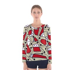 Playful abstraction Women s Long Sleeve Tee