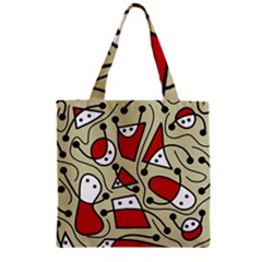 Playful abstraction Zipper Grocery Tote Bag