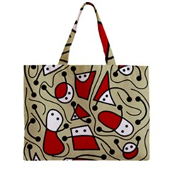 Playful abstraction Zipper Mini Tote Bag