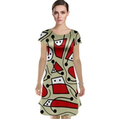 Playful abstraction Cap Sleeve Nightdress