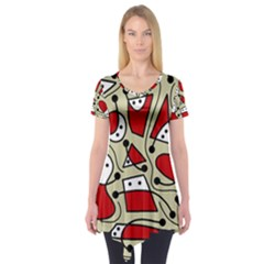 Playful abstraction Short Sleeve Tunic