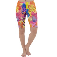 Pop Art Roses Cropped Leggings