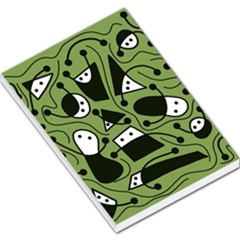 Playful abstract art - green Large Memo Pads