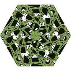 Playful abstract art - green Mini Folding Umbrellas