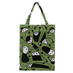 Playful abstract art - green Classic Tote Bag