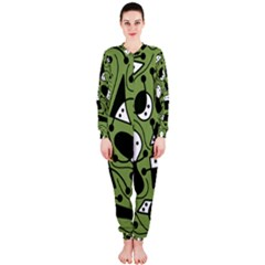 Playful abstract art - green OnePiece Jumpsuit (Ladies)
