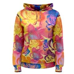 Pop Art Roses Women s Pullover Hoodie