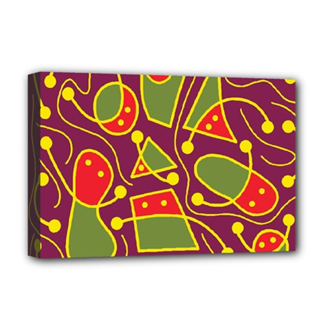 Playful decorative abstract art Deluxe Canvas 18  x 12