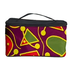 Playful decorative abstract art Cosmetic Storage Case