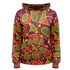 Playful decorative abstract art Women s Pullover Hoodie