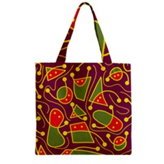 Playful decorative abstract art Zipper Grocery Tote Bag