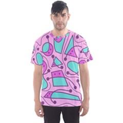 Playful abstract art - pink Men s Sport Mesh Tee