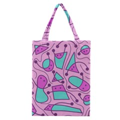 Playful abstract art - pink Classic Tote Bag
