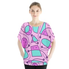 Playful abstract art - pink Blouse