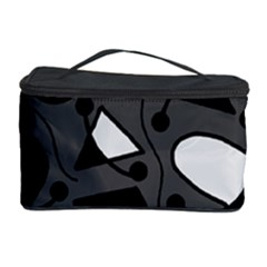 Playful abstract art - gray Cosmetic Storage Case
