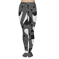 Playful abstract art - gray Women s Tights