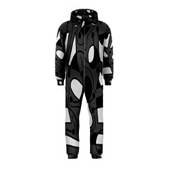 Playful abstract art - gray Hooded Jumpsuit (Kids)