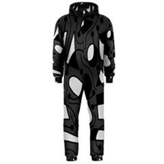 Playful abstract art - gray Hooded Jumpsuit (Men)