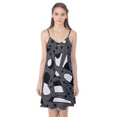 Playful abstract art - gray Camis Nightgown