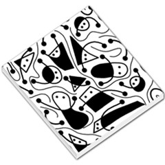 Playful Abstract Art   White And Black Small Memo Pads