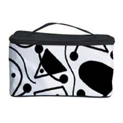 Playful abstract art - white and black Cosmetic Storage Case