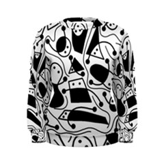 Playful abstract art - white and black Women s Sweatshirt
